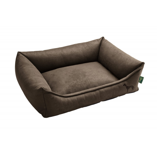 Dog sofa Bologna 90x70 cm, brown