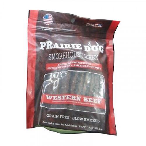 Prairie Dog Smokehouse 西方牛肉條狗零食4盎司