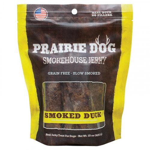 Prairie Dog Smokehouse 煙熏鴨肉條狗零食15盎司