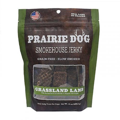 Prairie Dog Smokehouse 草原羔羊肉條狗零食15盎司