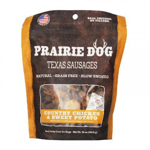 Prairie Dog Texas Sausages 鄉村雞肉和甘薯狗零食16盎司