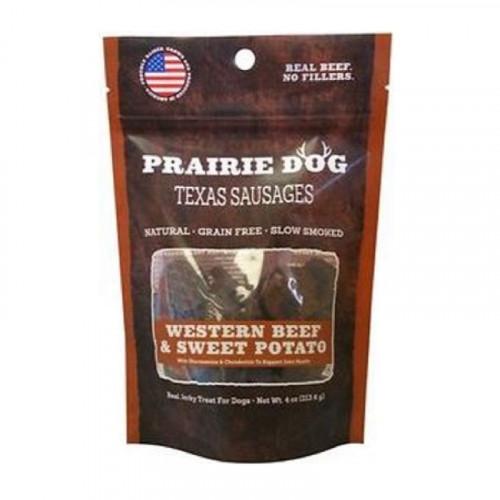 Prairie Dog Texas Sausages 西式牛肉和甘薯狗零食4盎司