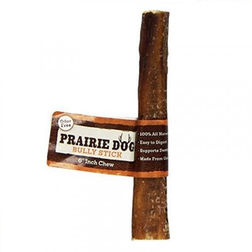 """Prairie Dog 天然風乾放牧牛根 6"""" 大"""